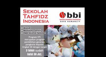 Wakaf Sekolah Tahfidz Indonesia (STI)