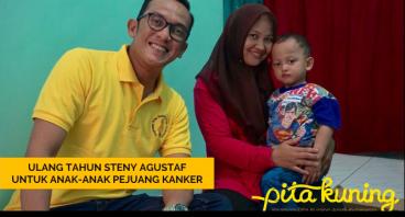 Ultah Steny Agustaf untuk Anak-Anak Pejuang Kanker