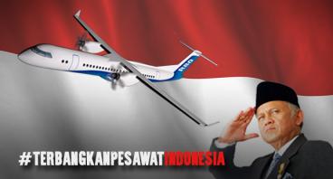 Pandji Pragiwaksono Dukung Pesawat R80