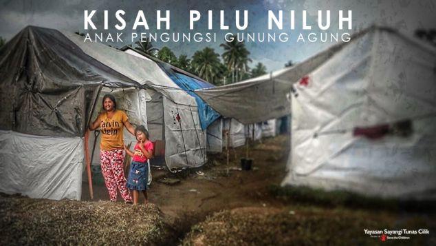 Ribuan Anak Pengungsi Gunung Agung Berduka