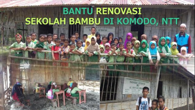 BANTU RENOVASI SEKOLAH BAMBU DI KOMODO, NTT