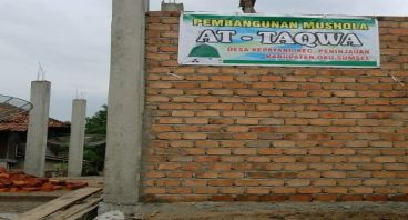 pembangunan mesjid At taqwa Baturaja Sumsel