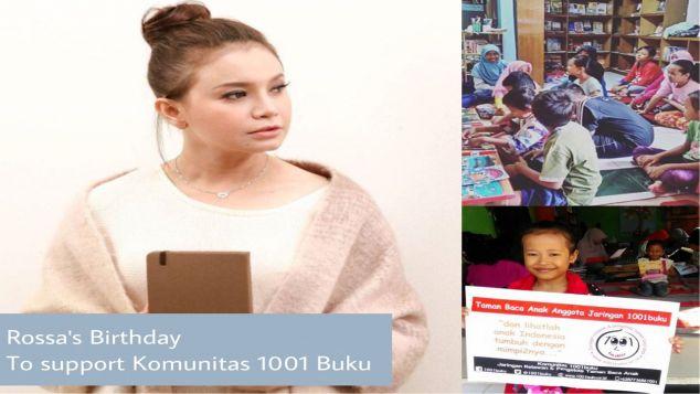 Ulang Tahun Rossa Support Komunitas 1001buku