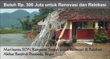 Bantu sekolah dan rumah diterjang banjir