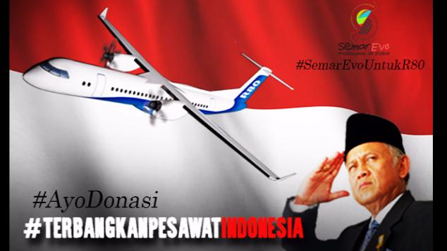 #YUKDONASI UNTUK PESAWAT R80 ! INDONESIA BISA !