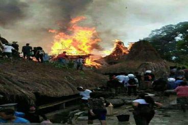 Kebakaran kampung Tarung