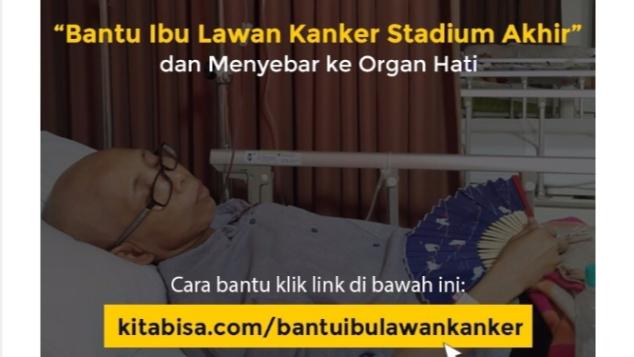 bantu ibu lawan kanker stadium akhir