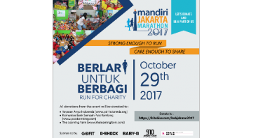 BUB JAKARTA MARATHON - Run For Charity 2017