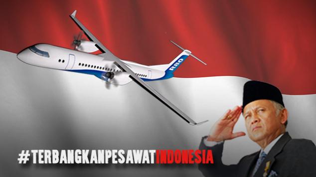Terbangkan Pesawat Indonesia R80