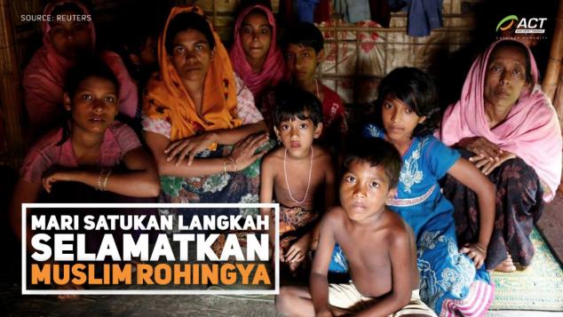 Ringankan Derita Etnis Rohingya