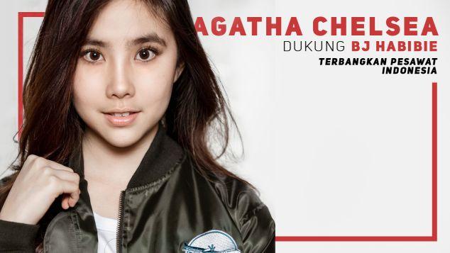 Agatha Chelsea Dukung Pesawat R80