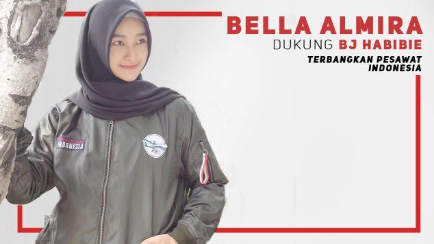 Bella Almira Dukung Pesawat R80