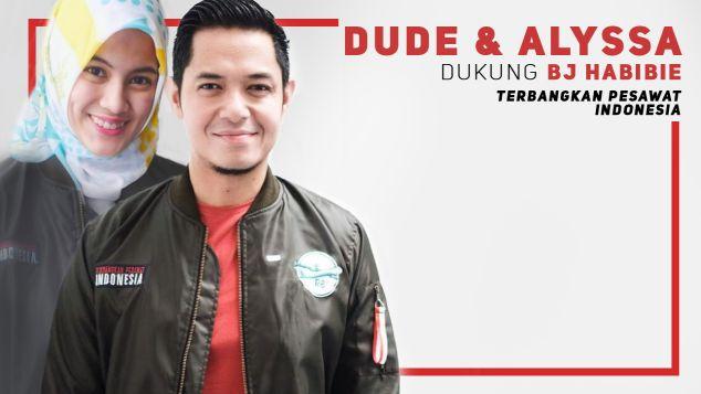 Dude Harlino & Alyssa Dukung Pesawat R80