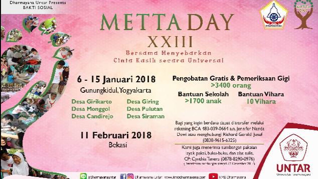 Bakti sosial Metta Day XXIII