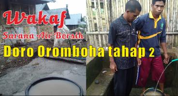 Wakaf sarana air bersih untuk warga doro oromboha
