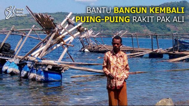 BANTU BANGUN KEMBALI PUING-PUING RAKIT PAK ALI
