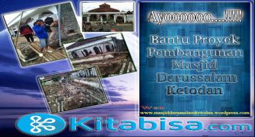 Berdonasi untuk Pembangunan Masjid Darussalam
