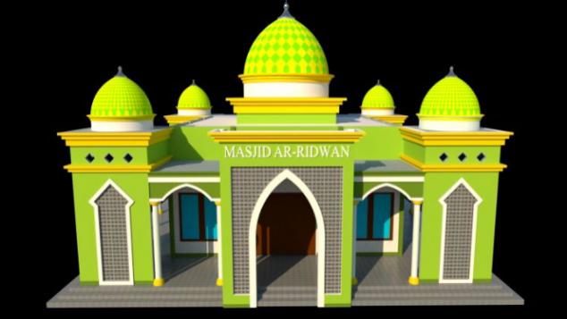 Renovasi Pembangunan Masjid Ar Ridwan Gurah Kediri