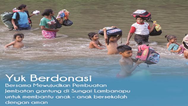 """Pembuatan """"Jembatan Gantung"""" #KitaUntukLambanapu"""