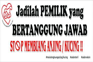 Project 100 Banner STOP BUANG ANJING/KUCING