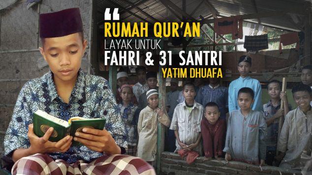 Rumah Quran Layak Bagi Yatim Dhuafa Pelosok Sulbar