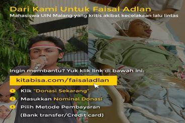 Bantu Saudara Faisal Adlan yang sedang Kritis