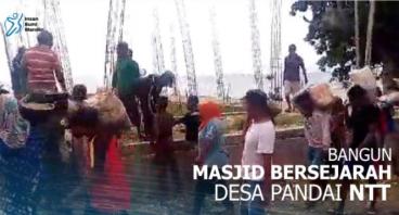 BANGUN MASJID BERSEJARAH DESA PANDAI NTT