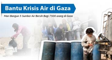 Bantu krisis air di Gaza