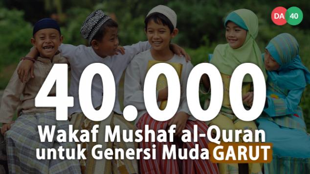 Wakaf 40.000 Mushaf al-Quran untuk Garut