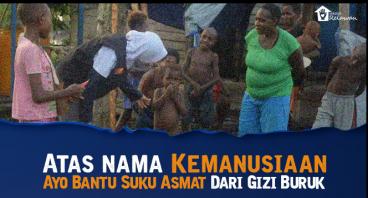 70 anak Asmat meninggal kena campak dan gizi buruk