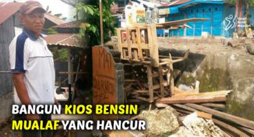BANGUN KIOS BENSIN MUALAF YANG HANCUR