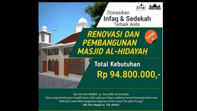 Patungan Renovasi & Pembangunan Masjid Al-Hidayah