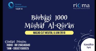 Berbagi 1000 Mushaf Al-Qur'an