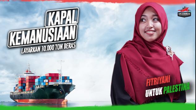 #Fitriyani untuk Kapal kemanusiaan Palestina