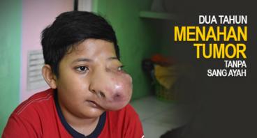 Fikram, 2th Menahan Sakitnya Tumor Tanpa Sang Ayah