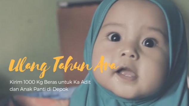 Ulang Tahun Ara untuk 1000 Kg Beras Anak Yatim