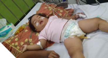 bantu azizah  umur 18 bulan melawan leukumia akut