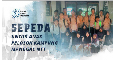 SEPEDA UNTUK ANAK PELOSOK KAMPUNG MANGGAE NTT