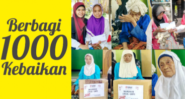 Berbagi 1000 Kebaikan untuk Yatim & Lansia Dhuafa