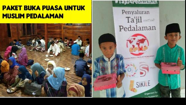 Paket Buka Puasa untuk Muslim Pedalaman