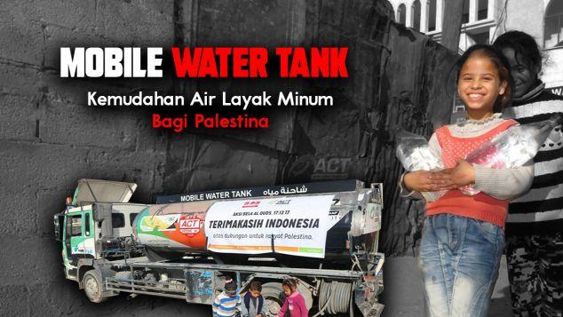 Patungan  Sediakan Air Layak Minum Bagi Palestina