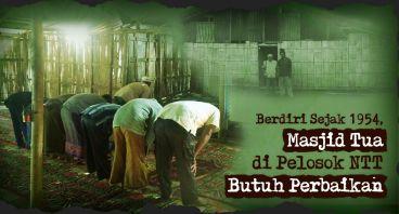 Bantu Perbaiki Masjid Pertama di Pelosok Alor, NTT