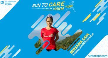 Siska Berlari 150 KM Demi 2.200 Anak Negeri