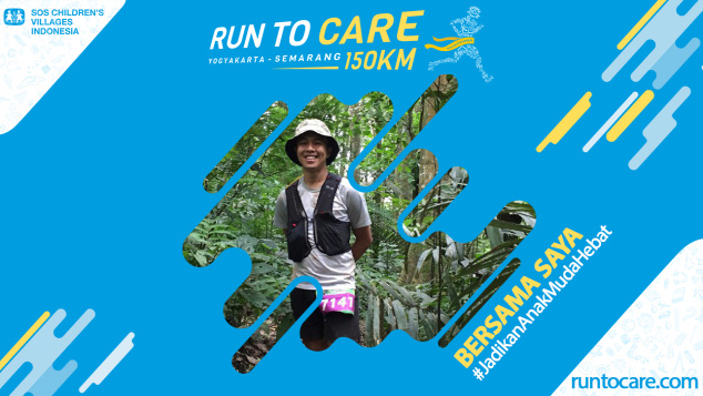 Luthfi B Berlari 150 KM Demi 2.200 Anak Negeri