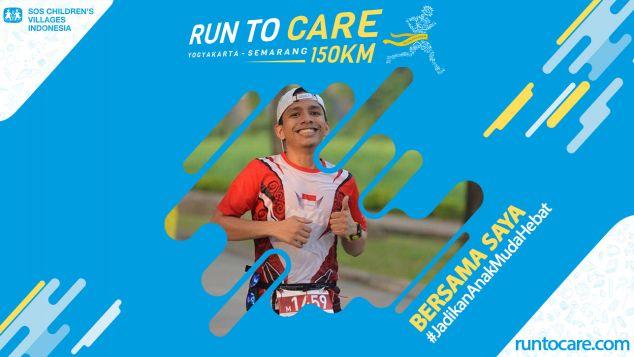 Adelino Berlari 150 KM Demi 2.200 Anak Negeri
