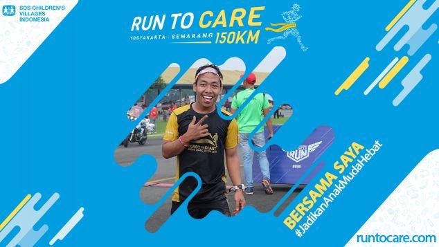Syaicar Berlari 150 KM Demi Anak 2.200 Negeri