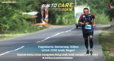 Vonny Berlari 150 KM Demi 2.200 Anak Negeri