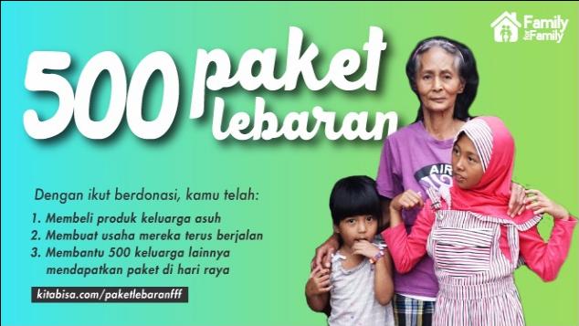 Paket Lebaran untuk Keluarga Asuh FamilyForFamily