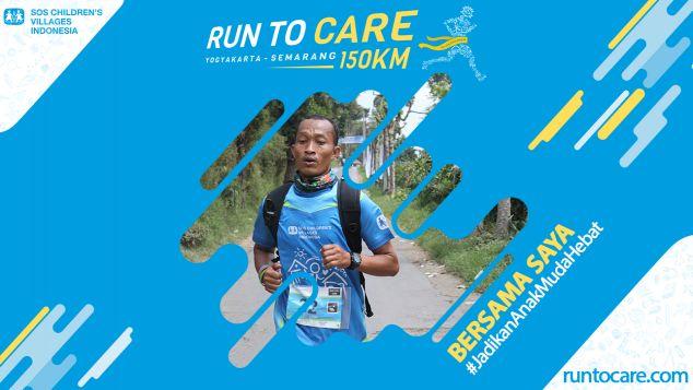 Suntoro Berlari 150 KM Demi 2.200 Anak Negeri