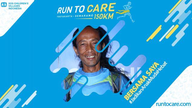 Cokro Berlari 150 KM Demi 2.200 Anak Negeri